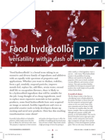 Food Hydro Colloids Properties