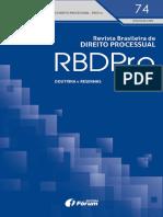 Revista Brasileira de Direito Processual – RBDPro. N. 74