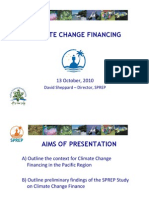 SPREP Climate Change Financing Study
