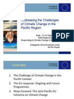 EU Addressing the Challenges of Climate Change in the Pacific Region