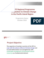 SPC/GTZ Regional Programme Adaptation to Climate Change in the Pacific Island Region