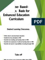 Module 7 Lesson 1 - OBE Basis for Enhanced Education Curriculum
