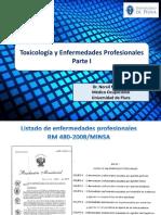 Toxicología y Enfermedades Profesionales 2019-i