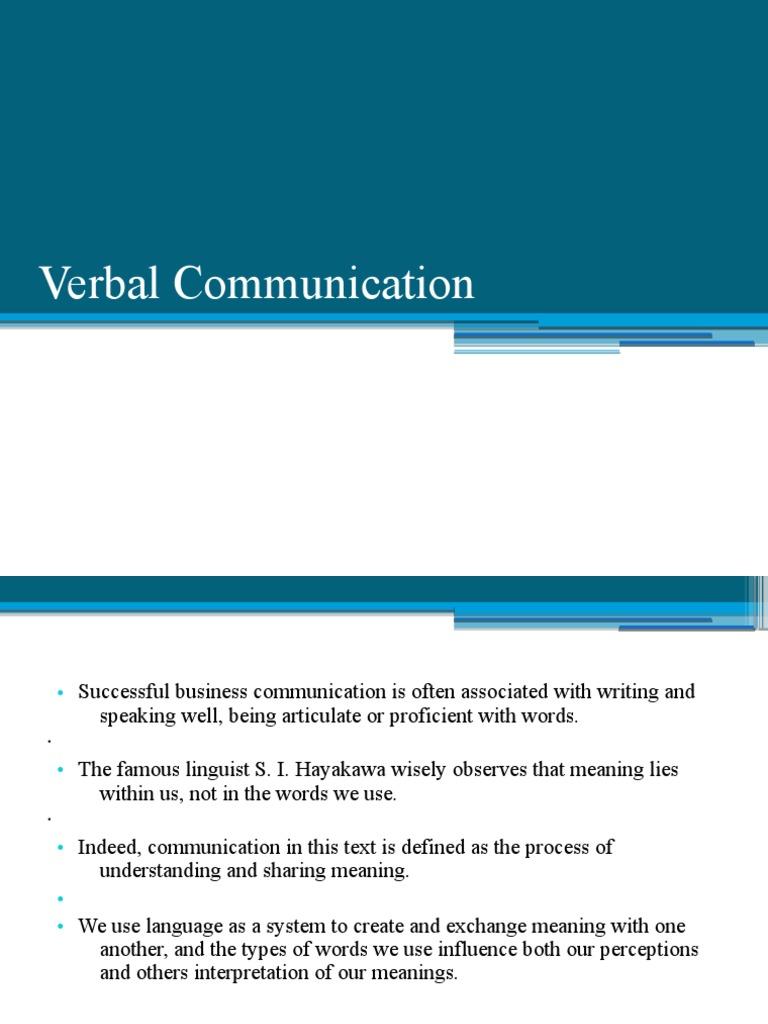 verbal communication | nonverbal communication | communication