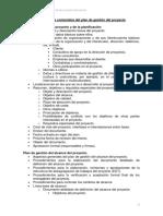 1-Ejemplo de índice de contenidos del plan de gestión del proyecto