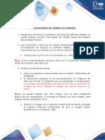 Anexo 1 - Implementación de códigos en el software
