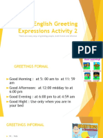 English Greeting Expressions Activity 2