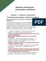 ESTRUCTURA DEL ESTADO Y GOBERNANZA DE LAS POLITICAS PUBLICAS