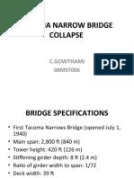 Tacoma Narrow Bridge Collapse