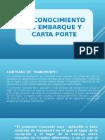 EL CONOCIMIENTO DE EMBARQUE Y CARTA PORTE