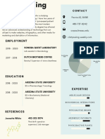 white and blue infographic resume  1