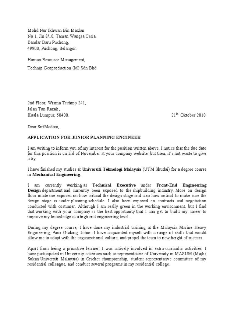 Cover Letter Ikhwan Behavior Modification Psychological Concepts