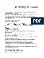 Copy of JWT Brand Strategy