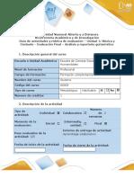 Guía de actividades y rúbrica de evaluación - Fase 4 - Evaluación Final - Análisis y repertorio guitarrístico