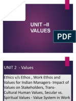 UNIT II- IEBE -Values.pptx