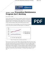 Why Your Preventive Maintenance Program Isn't Working
