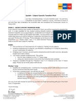 2020-05-04 Year 11 Update - Subject-Specific Transition Work