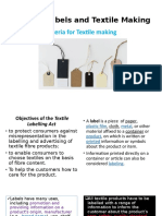 Role of Labels and Textile Making
