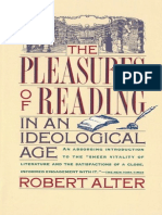Alter, The Pleasures of Reading in an Ideological Age (1989, Simon & Schuster)