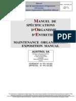 MOE - Manuel d'Organisation d'Entretien