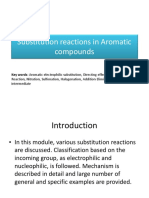 Aromatic Electrophilic Substitution