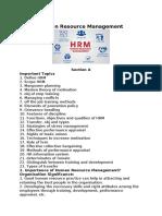 Human Resource Management blog post