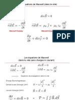 Équations de Maxwell dans le vide