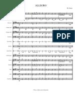Allegro score