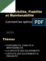 Disponibilite, Fiabilité et maintenabilité