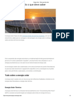 Energia Solar - Tudo o que deve saber