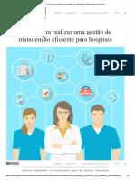 5 dicas para realizar uma gestão de manutenção eficiente para hospitais