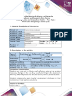 Activity guide and evaluation rubric - Post task -  Designing a lesson plan