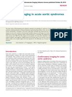 The role of imaging in acute aortic syndromes