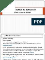 WEEK 11 Semantics
