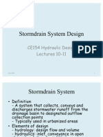 Storm Water Drain & Detention Basin