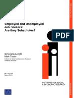 Employed and Unemployed job seekers