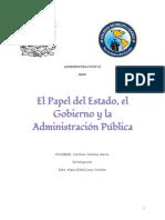 papel del estado, gobierno y la administración pública