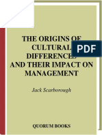 ORIGINS of Cult. Differences and Management
