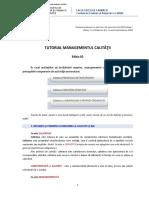 Tutorial Managementul Calitatii