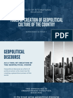 Tools of creation of geopolitical culture in the countries of the country