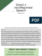 Direct x Indirect Speech