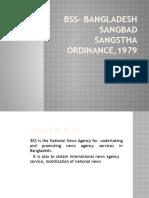 BSS- Bangladesh Sangbad Sangstha Ordinance,1979
