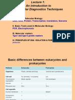 1. Basics of Molecular Biology