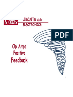Op Amps Positive Feedback