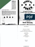 Ganar Al Poker de David Sklansky