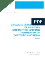 Capacidad de redacción de boletines informativos