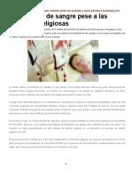 PUEDEN LOS JUECES ORDENAR TRANSFUSIÓN DE SANGRE A ADOLESCENTE EVANGÉLICA
