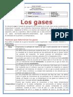GUÍA DE TRABAJO  N° 1 PROPIEDADES DE LOS GASES