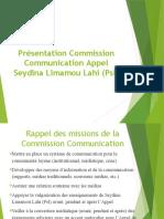 draft Présentation Commision Communication
