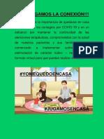 MANTENGAMOS LA CONEXIÓN ACTIVIDADES